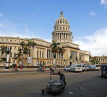Capitolio street scene, Havana, Cuba by buttonpresser