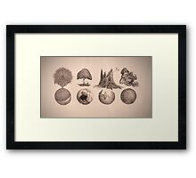 A Study in Ink Framed Print