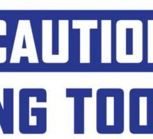 Caution Welder Sticker