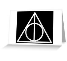Harry Potter - Deathly Hollows (White #1) Greeting Card
