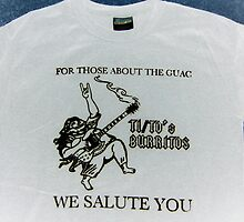 Tito's Burritos shirt by Erik Diaz