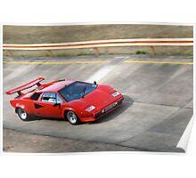Lamborghini Countach, Dunton Test Track Poster