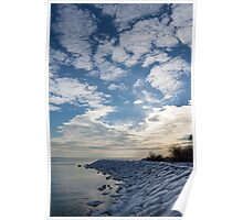 Cirrocumulus Clouds and Sunshine - Lake Ontario, Toronto, Canada Poster