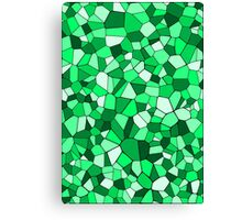 Green Geometric Mosaic Pattern Canvas Print
