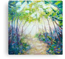 Promise Of Spring - A Woodland Path Canvas Print