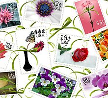Floral Postage by Maria Dryfhout