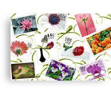 Floral Postage Canvas Print