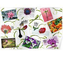 Floral Postage Poster