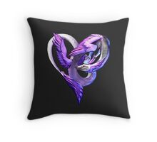 Ace of Dragons: Hearts Throw Pillow