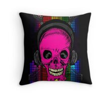 Skulls, Guitars and Rock and Roll! Throw Pillow