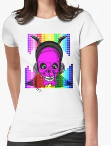 Skulls, Guitars and Rock and Roll! Womens Fitted T-Shirt
