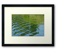 Ripples - green/blue Framed Print