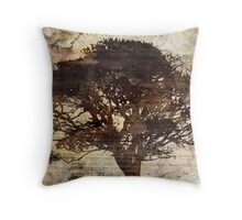 Trees sing of Time - Vintage 2 Throw Pillow