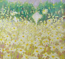 Daisies In A Sussex Meadow by Gill Bustamante
