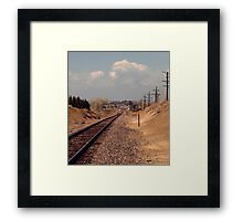 The Other Side of the Tracks Framed Print