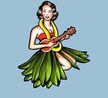 Vintage Hula Girl Unisex T-Shirt