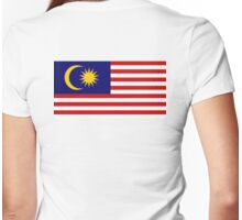 Malaya, Malayan, Malaysian Flag, Flag of Malaysia, Stripes of Glory Womens Fitted T-Shirt