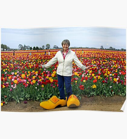 Tiptoeing Through the Tulips  Poster