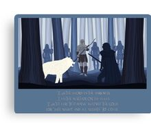 Beyond the Wall - Paper Cut outs Canvas Print