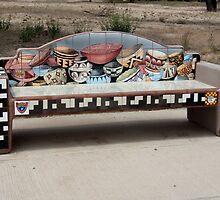 The Hohokam Pottery Bench by Lucinda Walter