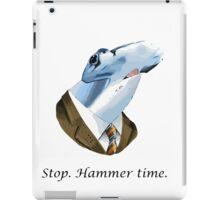 Funny stop hammer time shark parody iPad Case/Skin
