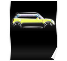 MINI, BMW, Mini Car, Liquid Yellow, British, Icon, Yellow Mini, Motor car Poster