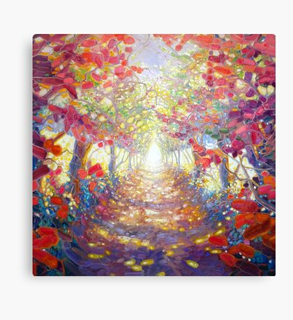 You Can Have The Truth - woodland path oil painting Canvas Print
