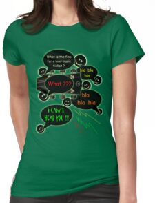 Loud music ticket cartoon Womens Fitted T-Shirt