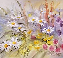 Wild Flower Tapestry by artbyrachel