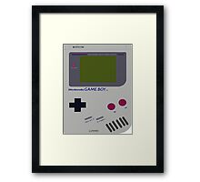 Siloet Game Boy Fan Art Framed Print