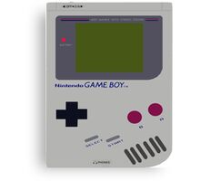 Siloet Game Boy Fan Art Canvas Print