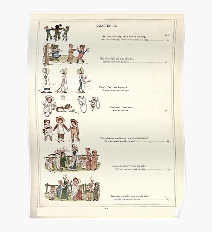 Under the Window Pictures and Rhymes for Children Edmund Evans and Kate Greenaway 1878 0015 Contents Poster