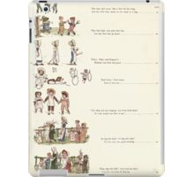 Under the Window Pictures and Rhymes for Children Edmund Evans and Kate Greenaway 1878 0015 Contents iPad Case/Skin