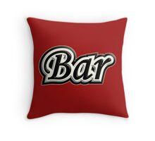 Bar B&W Throw Pillow