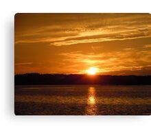 Sunset over Hilton Head Canvas Print