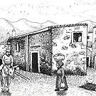 sardinian village scene 2 by sirbonessa