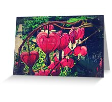 Vintage Hearts Greeting Card