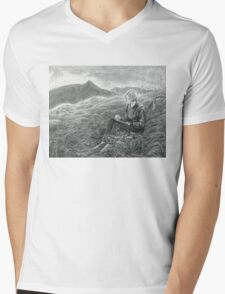 Kate and Catstye Cam Mens V-Neck T-Shirt