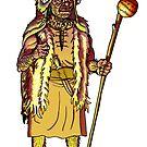 ancient sardinian chief by sirbonessa