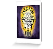 Turn on the Light - Purple Greeting Card