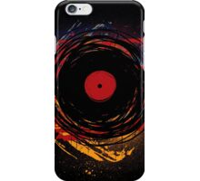 Vinyl Record Retro Grunge with Paint and Scratches - Music DJ! iPhone Case/Skin
