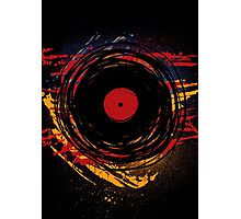 Vinyl Record Retro Grunge with Paint and Scratches - Music DJ! Photographic Print