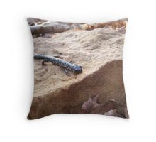 Speckled Newt Throw Pillow