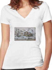 Cold Slumber Women's Fitted V-Neck T-Shirt