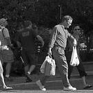 Walking BW by Larry  Grayam