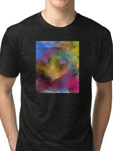 Unique Colorful Abstract Tri-blend T-Shirt