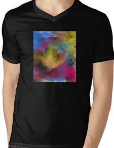 Unique Colorful Abstract Mens V-Neck T-Shirt