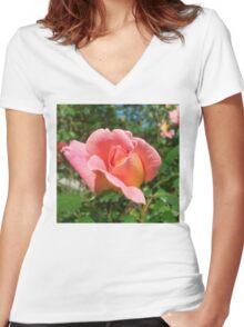 Laughter Rosebud Women's Fitted V-Neck T-Shirt