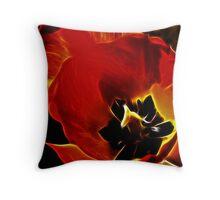Tulip in Fractalius Throw Pillow