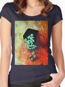Black Vase with Grapes Women's Fitted Scoop T-Shirt